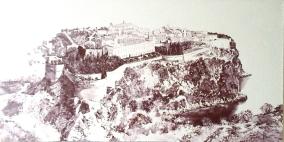 4. LE ROCHER. MONACO. 1823. huile sur la toile 50-100