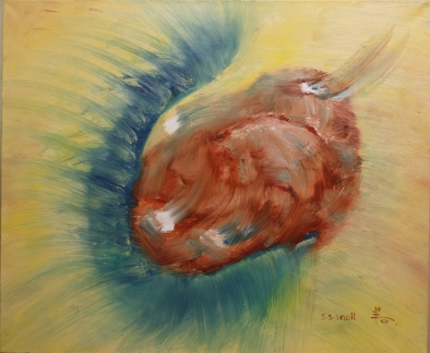 A DANCING SNAIL. 2014 Oil on canvas, 50-60cm