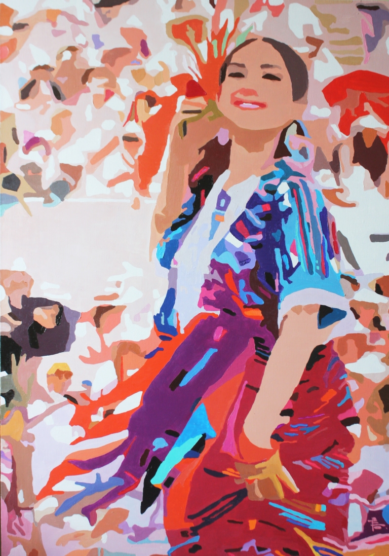 CHRISTINE.2015. Oil on canvas. 100-70cm