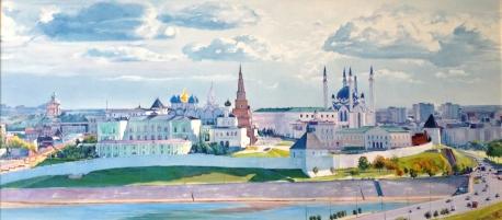KAZAN. 2014. Oil on canvas. 65-150 cm