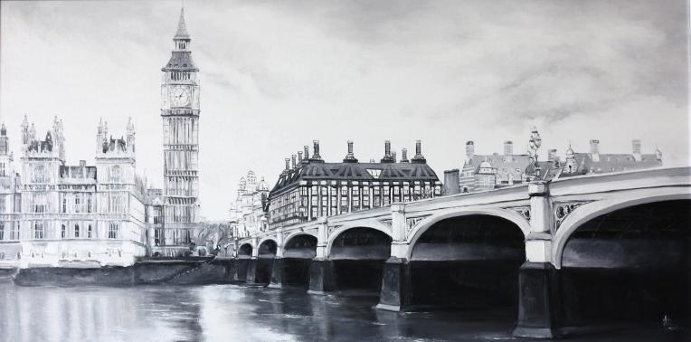 LONDON.2013. Oil on canvas. 90-60 cm