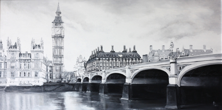 LONDON.2013. Oil on canvas. 90-60 cm