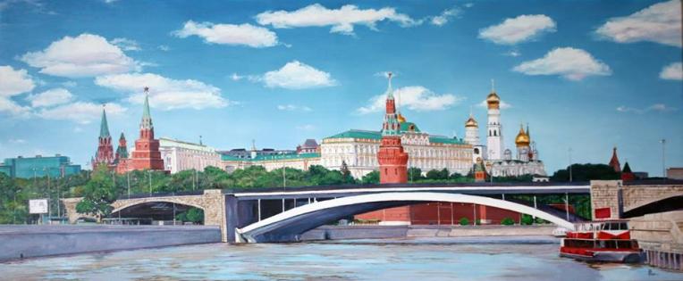 MOSCOW. 2014. Oil on canvas. 55-120 cm.